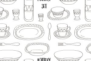 Pottery set pattern