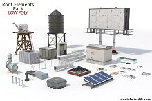 Low Poly Roof Element PACK by  in Objects