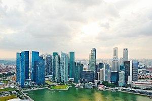 Singapore aerial skyline