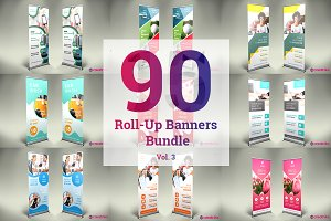 90 Roll Up Banner Bundle