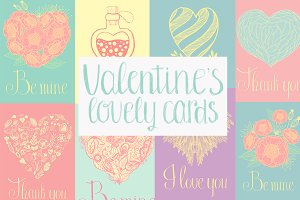 Valentine's day lovely cards