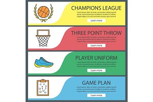 Basketball banner templates. Vector