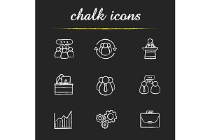 Business. 9 icons. Vector