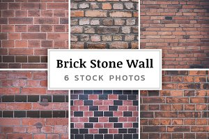 Brick Stone Wall – 6 Stock Photos