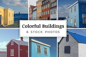 Colorful Buildings – 6 Stock Photos