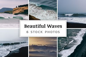 Beautiful Waves – 6 Stock Photos