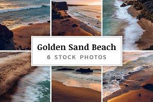 Golden Sand Beach – 6 Stock Photos