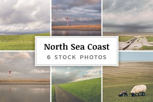 North Sea Coast – 6 Stock Photos