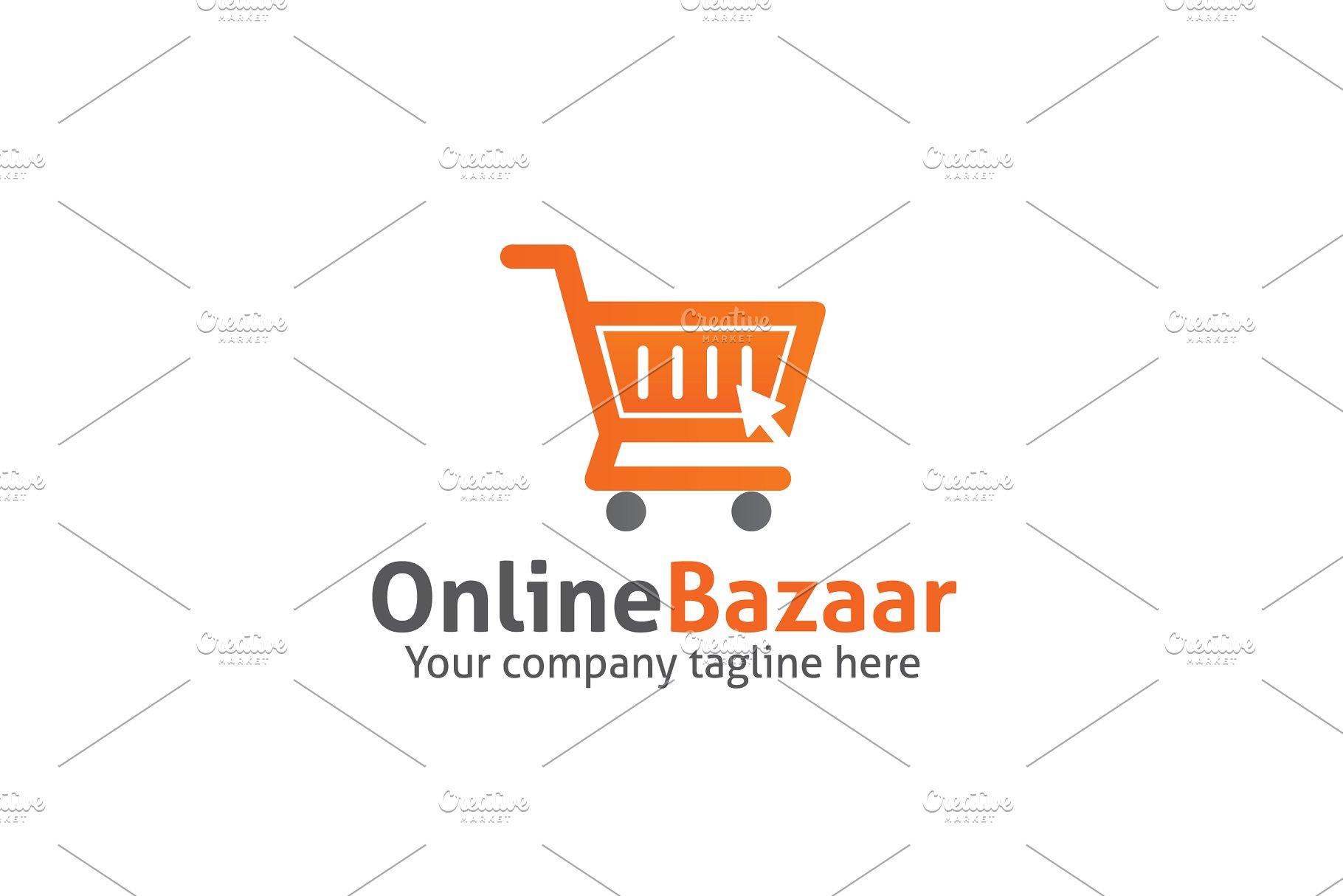 Online Bazaar Logo Logo Templates Creative Market Pro