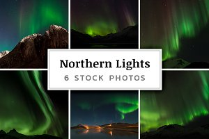Northern Lights – 6 Stock Photos