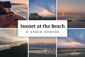 Sunset at the Beach – 6 Stock Photos
