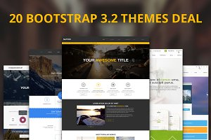 20 Premium Bootstrap Themes Deal