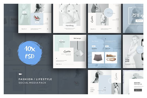 Instagram Fashion Pack in Instagram Templates - product preview 2