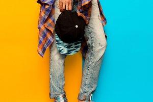 Denim Skateboard Style fashion jeans