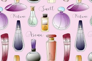 vector perfume fashion pattern
