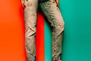 jeans boyfriend style denim