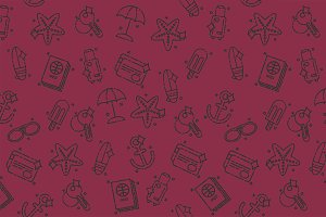 Tourism icons pattern