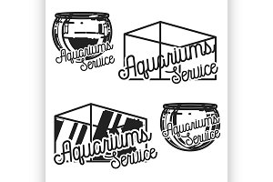 aquariums service emblems