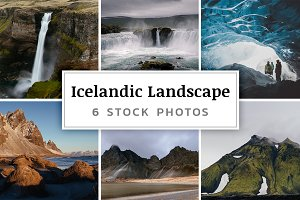 Icelandic Landscape – 6 Stock Photos