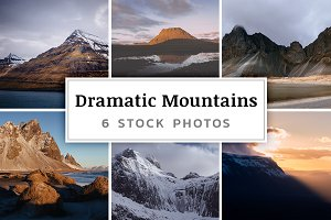 Dramatic Mountains – 6 Stock Photos