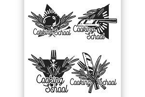cooking school emblems