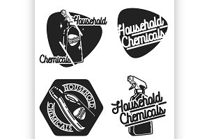 household chemicals emblems