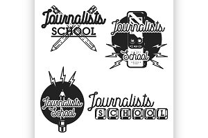 journalists school emblems