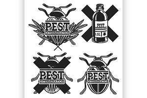 pest extermination emblems