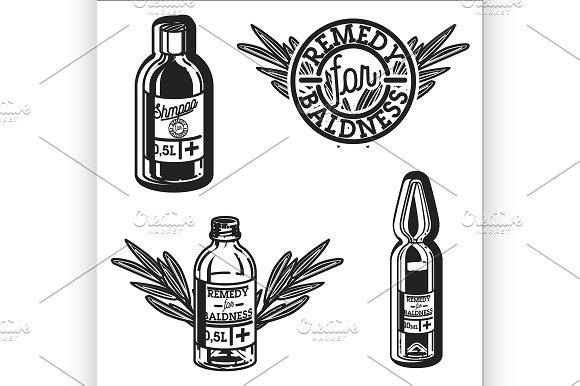 Remedy For Baldness Emblems
