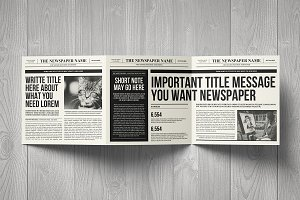 Newspaper Brochure Trifold