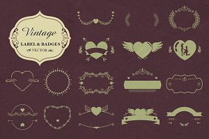 Vector Badges and Shapes-Decorations