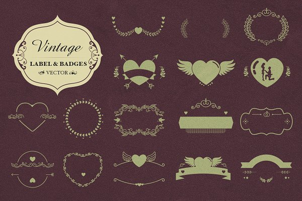 Vector Badges and Shapes-Decoration…