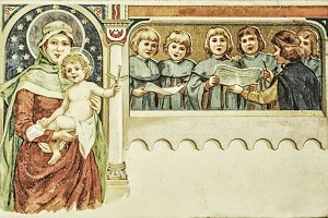 Vintage 1900's christmas card