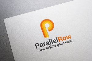 Parallel Row Letter P Logo