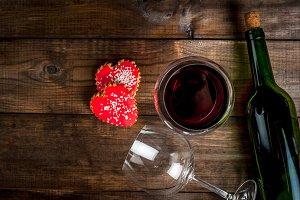Wine & biscuits-hearts