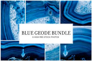 Blue Geode Stock Bundle