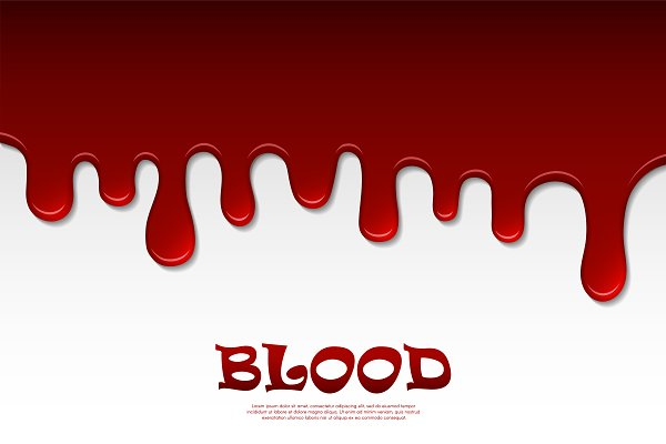 Vector dripping blood abstract