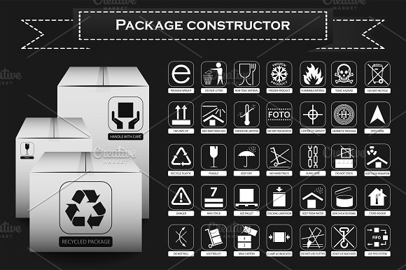 Vector Packaging Symbols Illustrations Creative Market