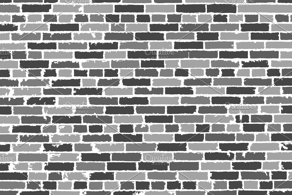 Vector Texture Of Old Brick Wall Custom Designed Illustrations