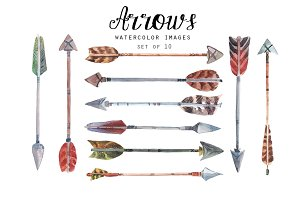 Watercolor arrows II