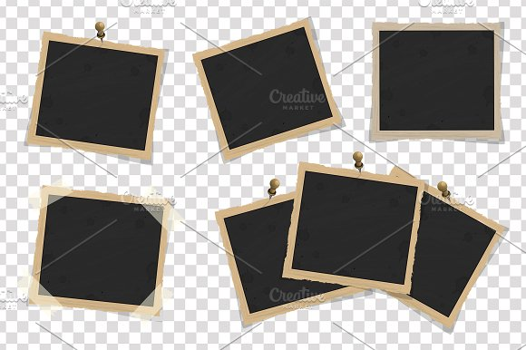 Set of square old vintage frames ~ Illustrations ~ Creative Market