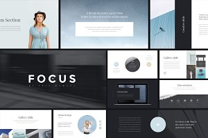 Focus PowerPoint Template + GIFT
