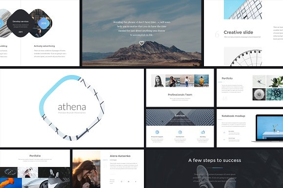 Athena Keynote Presentation in Presentation Templates - product preview 1
