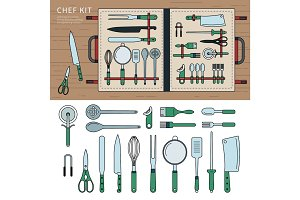 Chef kit on the table