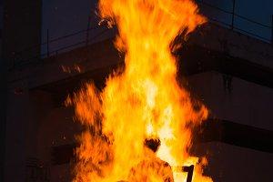Marimanta burning in celebration