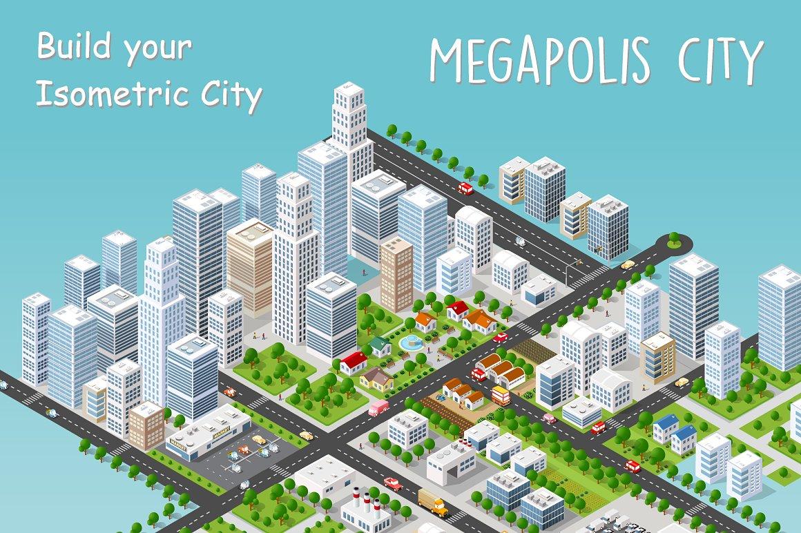 Modern 3d City Illustrations Creative Market