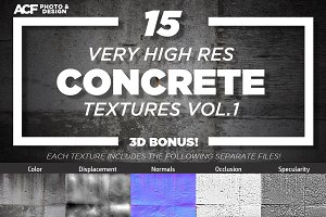 15 Concrete Texture Bundle