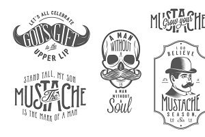 Movember design elements