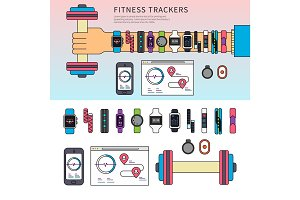 Fitness trackers on the hand