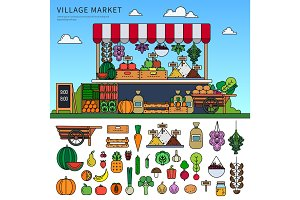 Food market in the village